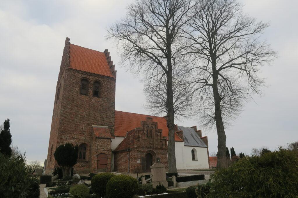 Ferslev kirke, februar 2021