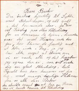 Brevet til Ove fra hans søster