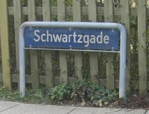 Skilt: Schwartzgade